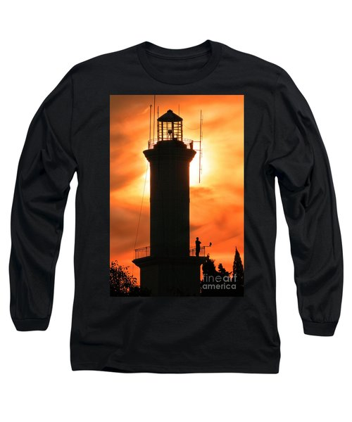 Long Sleeve T-Shirt featuring the photograph Lighthouse I by Bernardo Galmarini