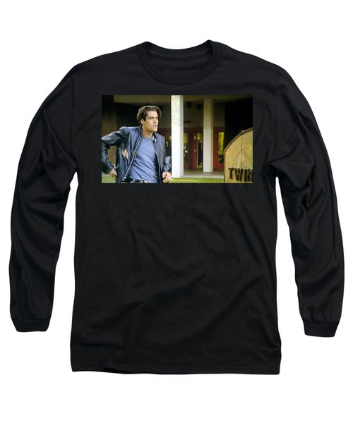 Long Sleeve T-Shirt featuring the painting Lights Start Changing by Luis Ludzska