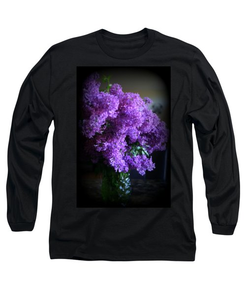 Lilac Bouquet Long Sleeve T-Shirt by Kay Novy