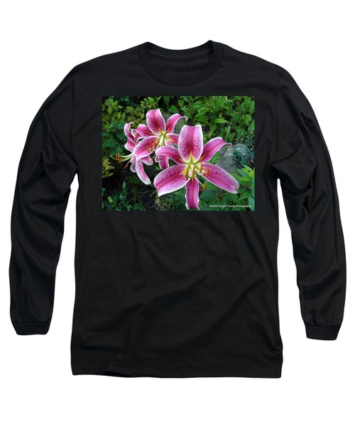 Long Sleeve T-Shirt featuring the photograph Lilies Of The Field by Lingfai Leung