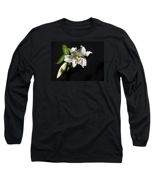 Long Sleeve T-Shirt featuring the photograph Lily At Daybreak by Nick Kloepping