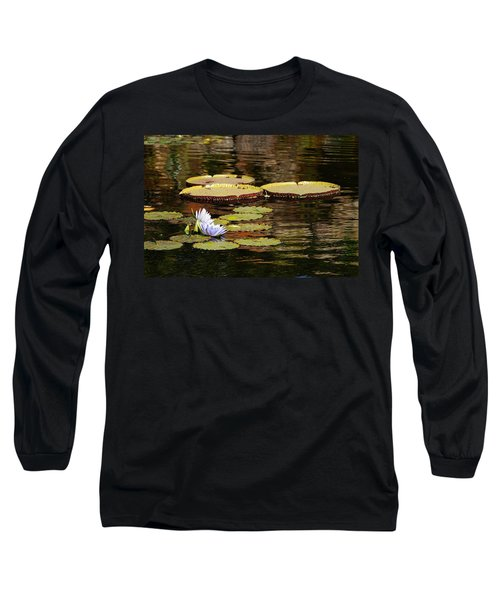 Long Sleeve T-Shirt featuring the photograph Lily Pad by Kathy Churchman