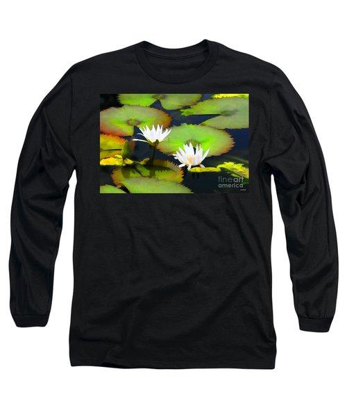 Lily Pond Bristol Rhode Island Long Sleeve T-Shirt by Tom Prendergast