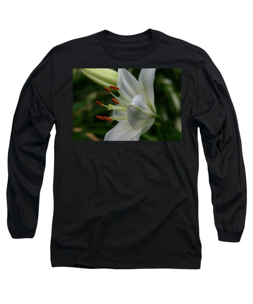 Long Sleeve T-Shirt featuring the photograph Lily Pure by Denyse Duhaime