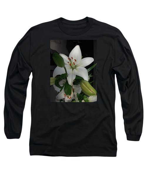 Lily White Long Sleeve T-Shirt