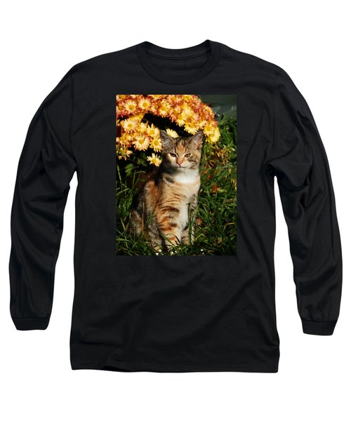 Lily With Harvest Mums Long Sleeve T-Shirt by VLee Watson