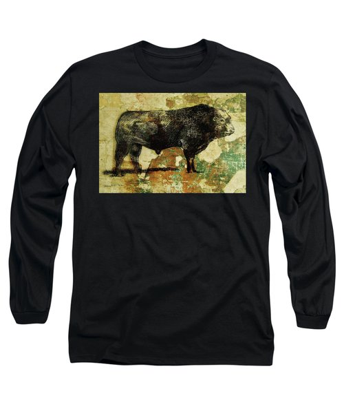 French Limousine Bull 11 Long Sleeve T-Shirt by Larry Campbell
