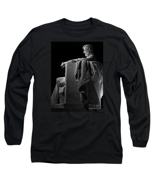 Lincoln In Black And White Long Sleeve T-Shirt