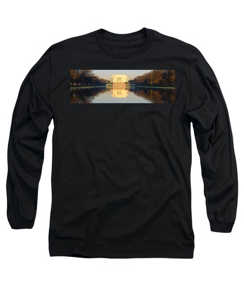 Lincoln Memorial & Reflecting Pool Long Sleeve T-Shirt by Panoramic Images