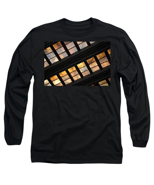 Lincoln Memorial Stained Glass Long Sleeve T-Shirt