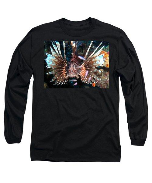 Long Sleeve T-Shirt featuring the photograph Lion Fish - En Garde by Amy McDaniel