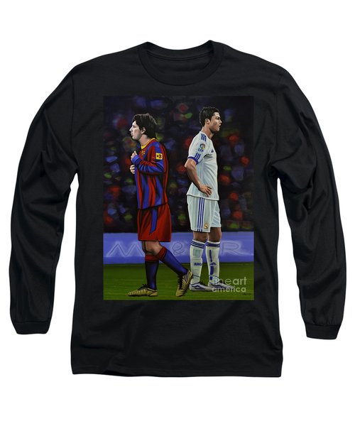 Lionel Messi And Cristiano Ronaldo Long Sleeve T-Shirt