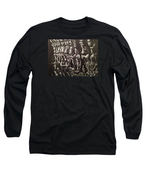 Lionpillars Long Sleeve T-Shirt by Brindha Naveen