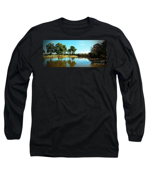 Long Sleeve T-Shirt featuring the photograph Little Creek by Angela DeFrias