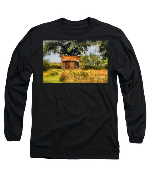Long Sleeve T-Shirt featuring the photograph Little House On The Prairie by Peggy Franz