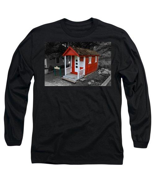 Little Red School House Long Sleeve T-Shirt by Richard J Cassato