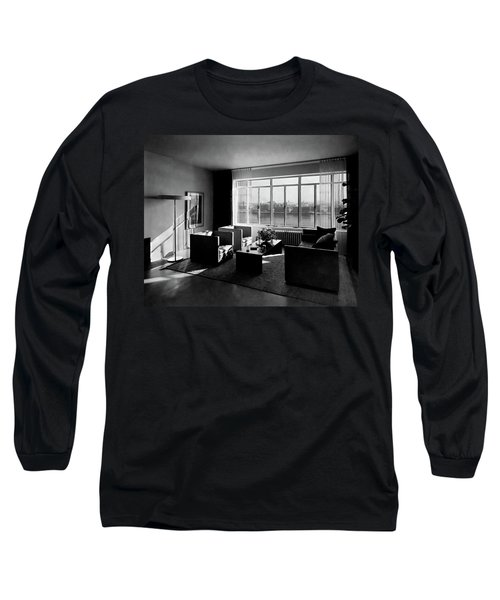 Living Room In The Ny Home Of Edward M. M Long Sleeve T-Shirt