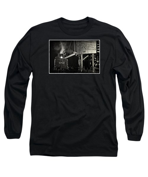 Long Sleeve T-Shirt featuring the photograph Loading Water At Chama Train Station by Priscilla Burgers