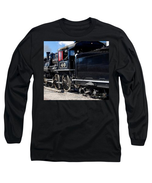 Long Sleeve T-Shirt featuring the photograph Locomotive With Tender by Gunter Nezhoda