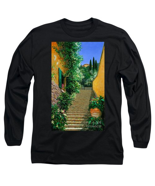Long Sleeve T-Shirt featuring the painting Lofty Heights by Michael Swanson