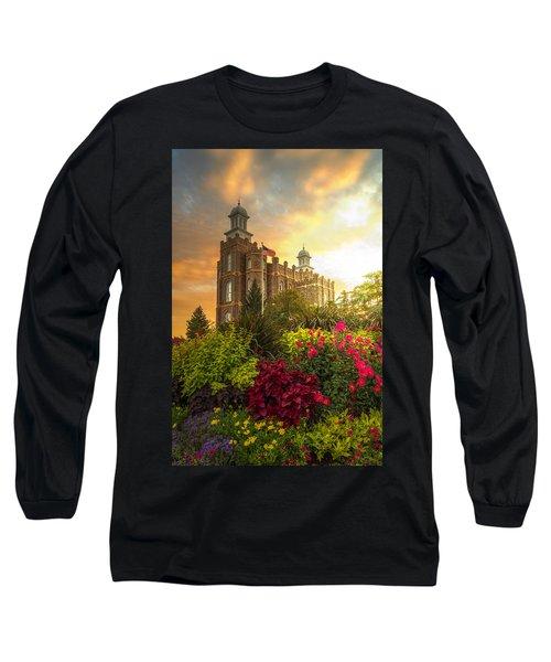 Logan Temple Garden Long Sleeve T-Shirt by Dustin  LeFevre