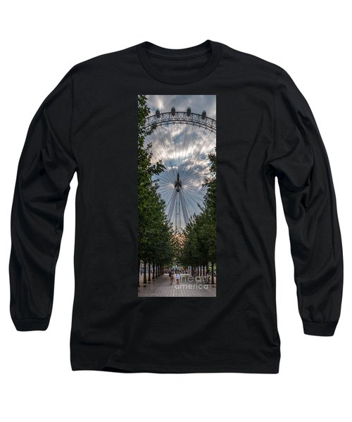 London Eye Vertical Panorama Long Sleeve T-Shirt