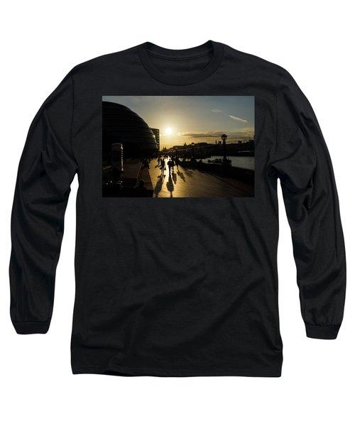 Long Sleeve T-Shirt featuring the photograph London Silhouettes  by Georgia Mizuleva