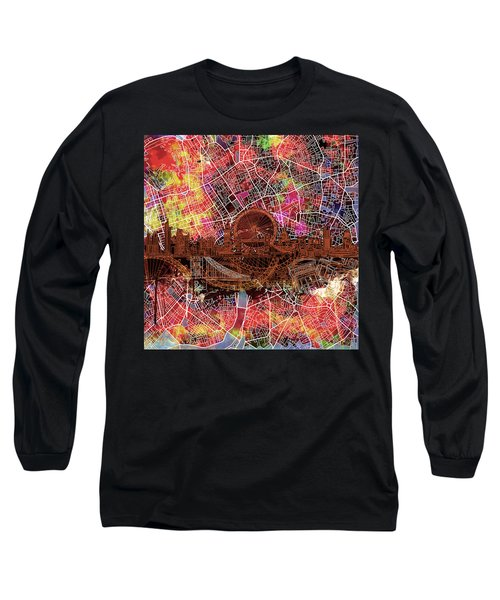 London Skyline Abstract 5 Long Sleeve T-Shirt