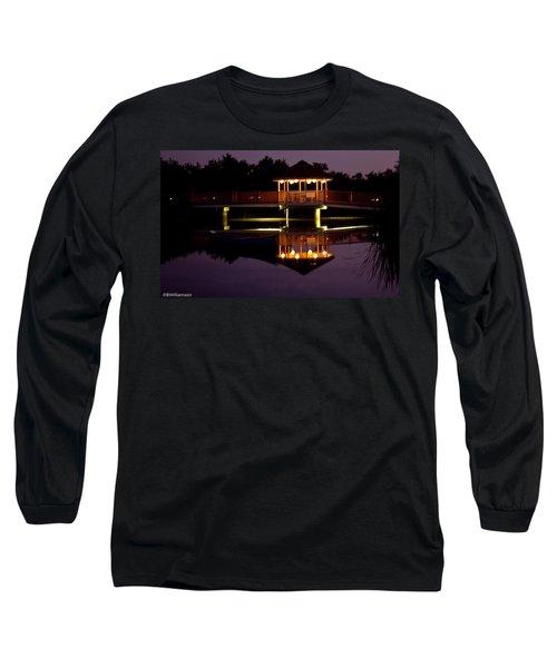 Lone Canoe Long Sleeve T-Shirt by Brian Williamson