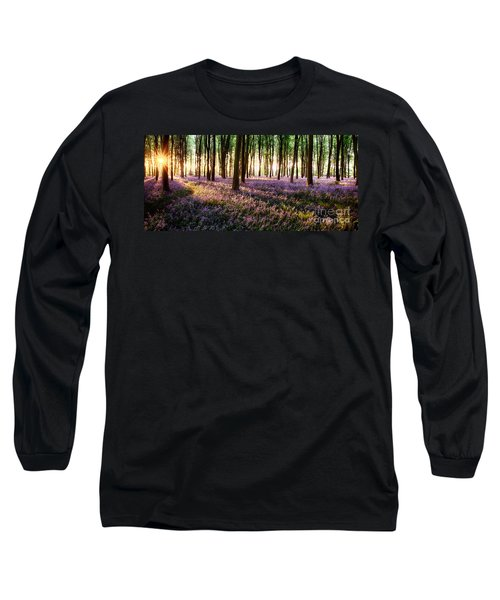 Long Shadows In Bluebell Woods Long Sleeve T-Shirt