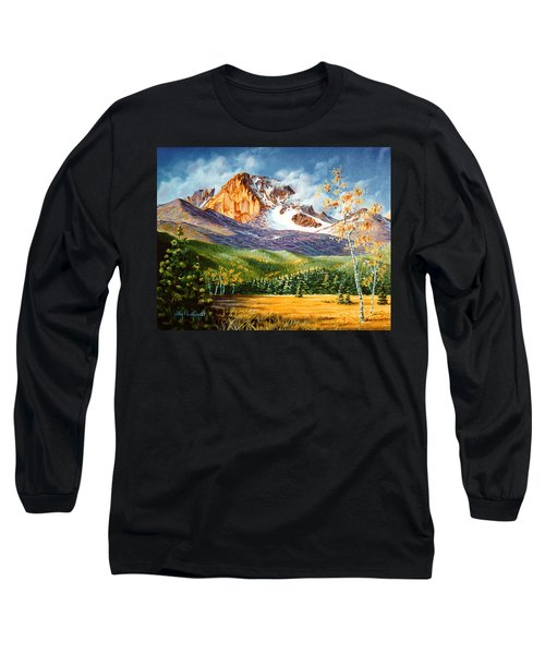 Long Sleeve T-Shirt featuring the painting Longs Shadows by Craig T Burgwardt