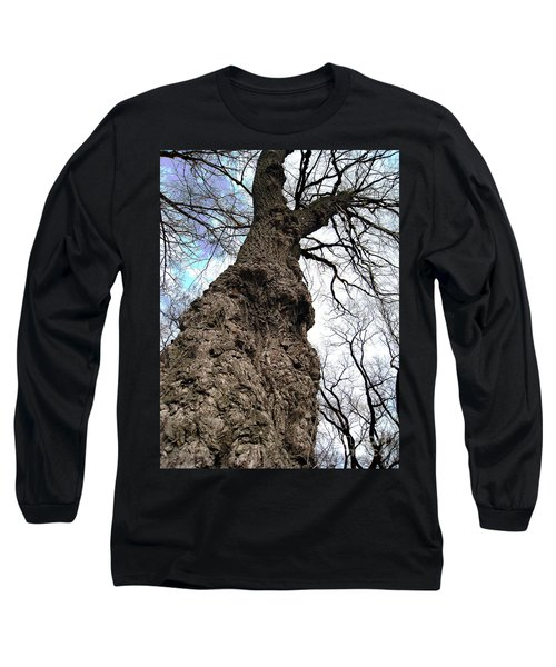 Long Sleeve T-Shirt featuring the photograph Look Up Look Way Up by Nina Silver