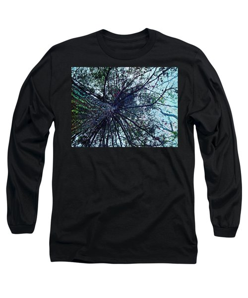 Long Sleeve T-Shirt featuring the photograph Look Up Through The Trees by Joy Nichols