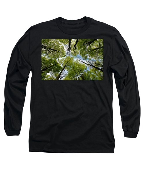 Long Sleeve T-Shirt featuring the digital art Looking Up by Ron Harpham