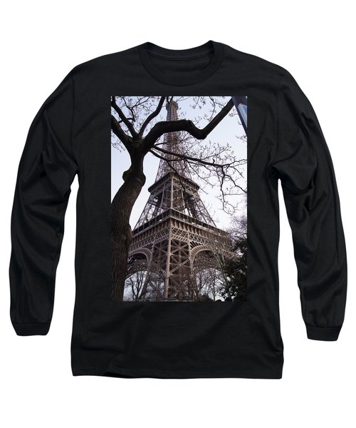 Looking Up To Eiffel  Long Sleeve T-Shirt