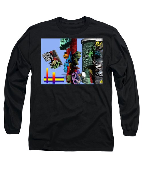 Lost In Comic Book Time Long Sleeve T-Shirt by Robert Margetts