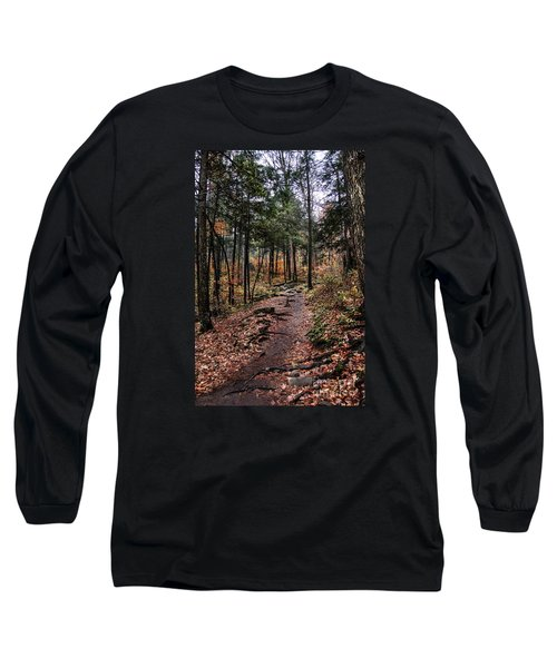 Long Sleeve T-Shirt featuring the photograph Lost In Thought On The Blue Ridge Parkway Trail by Debbie Green