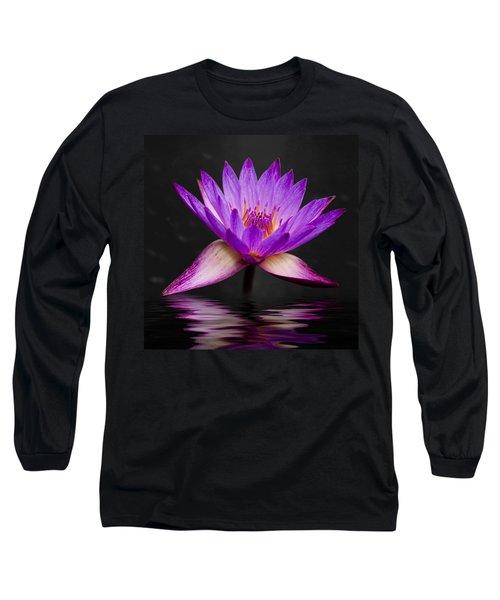 Lotus Long Sleeve T-Shirt by Adam Romanowicz