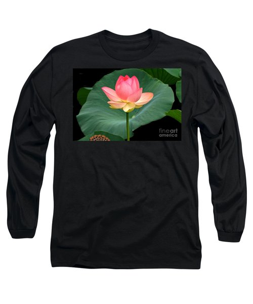 Lotus Of Late August Long Sleeve T-Shirt