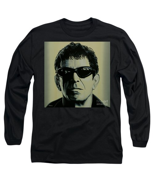 Lou Reed Painting Long Sleeve T-Shirt by Paul Meijering