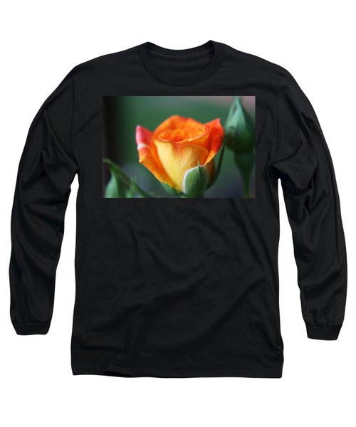 Long Sleeve T-Shirt featuring the photograph Louisiana Orange Rose by Ester  Rogers