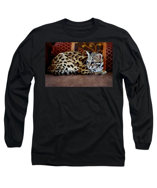 Lounging Leopard Long Sleeve T-Shirt
