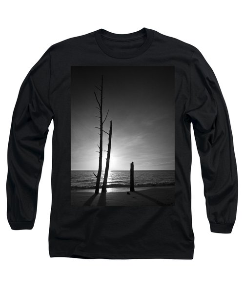 Lovers Key Sunset Black And White One Long Sleeve T-Shirt by Bradley R Youngberg