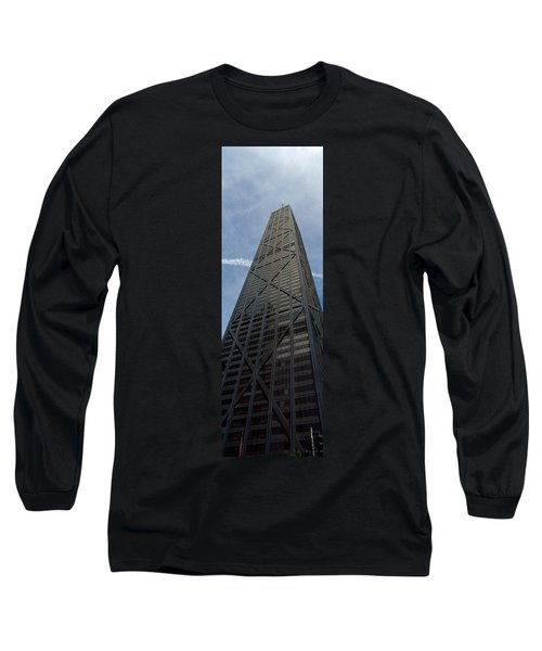 Low Angle View Of A Building, Hancock Long Sleeve T-Shirt by Panoramic Images