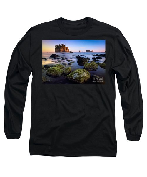 Low Tide At Second Beach Long Sleeve T-Shirt