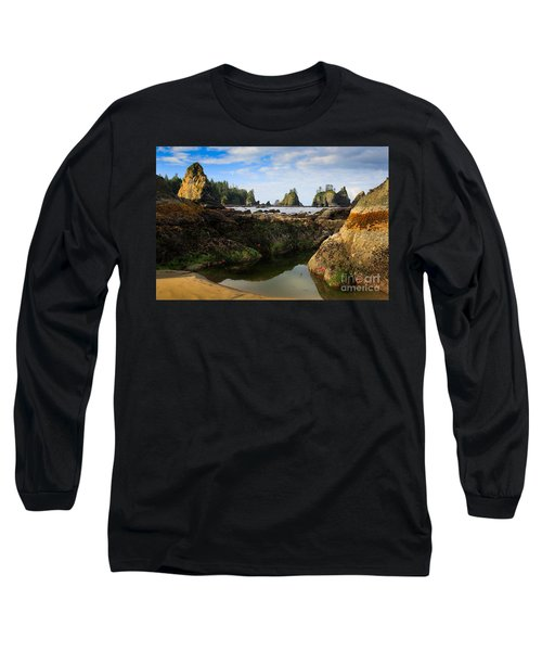 Low Tide At The Arches Long Sleeve T-Shirt