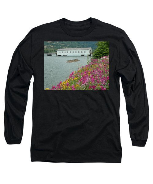 Long Sleeve T-Shirt featuring the photograph Lowell Covered Bridge by Nick  Boren