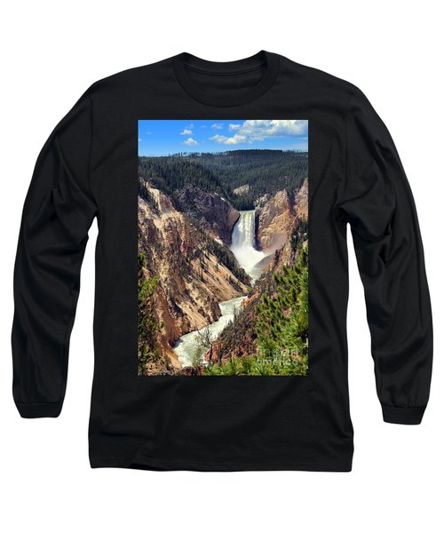 Lower Falls Of Yellowstone Long Sleeve T-Shirt