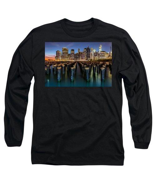 Long Sleeve T-Shirt featuring the photograph Lower Manhattan by Mihai Andritoiu