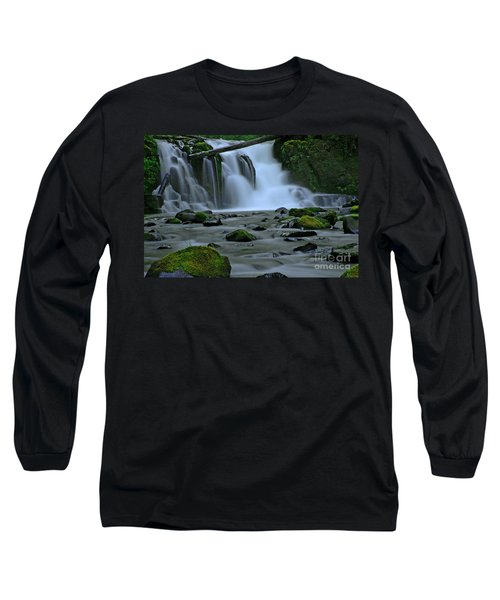 Lower Mcdowell Creek Falls Long Sleeve T-Shirt by Nick  Boren